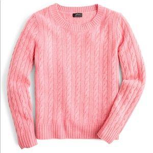 💗 J. CREW Pink Cashmere & Wool Crewneck Sweater